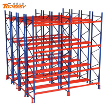 heavy duty warehouse storage double-deep pallet rack