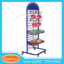 Cost-Effective Solid iron wrought hanging rack with 4 wheels
