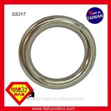 Industrieller Edelstahl-Argon geschweißter runder Ring