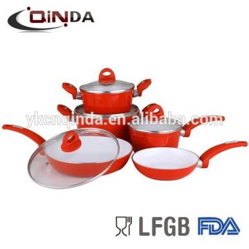 Forged aluminum ceramic cookware set