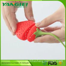 silicone tea strainer YANGLEI YL-149 strawberry tea infuser silicone