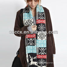 PK17ST334 ladies fashionable christmas design scarf