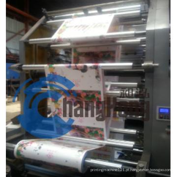 Máquina econômica de impressão flexográfica de 4 cores para tipografia