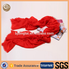 Woven spring long pure mongolian cashmere scarf