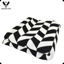 2016 New Fashion Twill Jacquard Pattern Acrylic Blanket