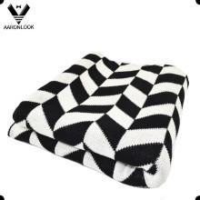 2016 Nova Moda Twill Jacquard Padrão Acrílico Blanket