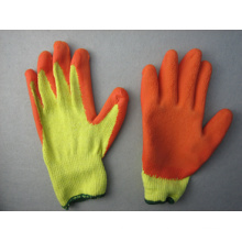 10g Polyester Liner Latex Coated Chemical Glove--5242. or