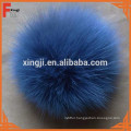 Top quality dyed fox fur pom poms ball