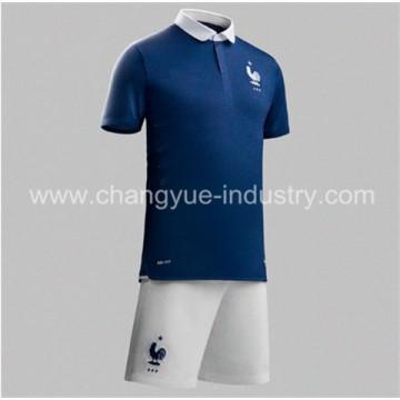 2014 design neue Frankreich Welt Cup Fußball Trikot Thailand Qualität Fußball einheitliche kits