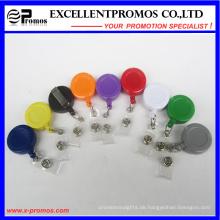 Kundenspezifisches Logo billigste Plastikrunde Abzeichenrollenhalter (EP-BH112-118)