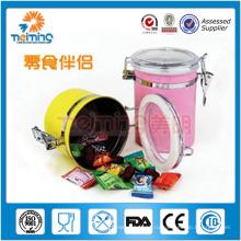 4шт герметичный стальной контейнер пластиковый пищевой нержавеющей