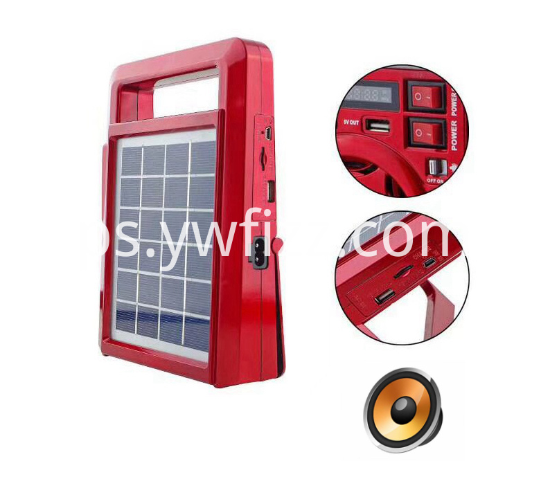 New solar energy band display speaker