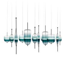 Nordic Frost Glass Chandelier Lighting Waterdrop Pendant Light