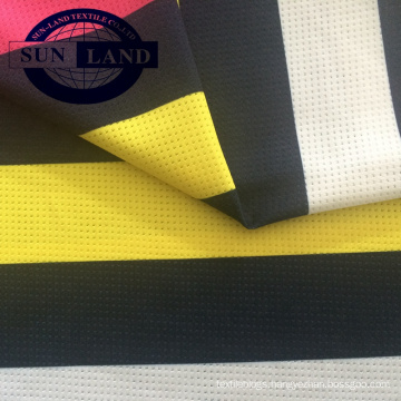 printing sports cloth 94% polyester and 6% spandex single mesh fabric