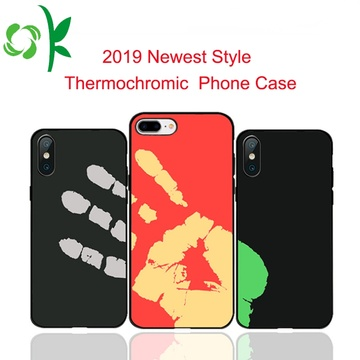 2019 neuester TPU + LeatherThermochromic Phone Case