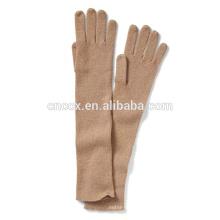 PK17ST041 China fornecedor atacado preço Cashmere Ribbed Glove