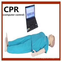 Modelo de manequim de treinamento de CPR de corpo completo de controle de computador