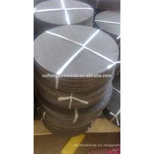 304 mallas del filtro / paño de alambre negro / acero inoxidable filtrar el disco de malla