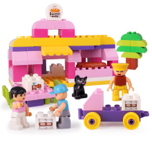 Girls Series Bakery Plastic Blocks Building Toy