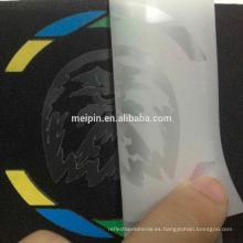Impresión transparente de la hoja adhesiva reflectante