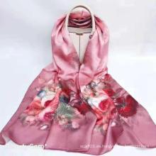 Bufandas de seda de la bufanda del algodón del satén de la impresión digital de encargo