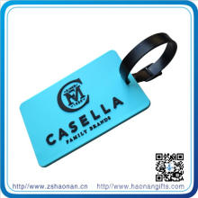 Design PVC Logo with Kinds of Colors Luggage Tag for Travel