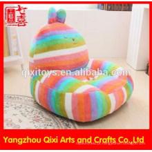 Coral fleece recheado coelho em forma de sofá do bebê cadeira de pelúcia brinquedo animal crianças bebê macio sofá