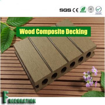Decking durável Crack-Resistente oco exterior de WPC