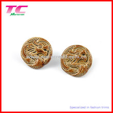 3D Embossed Dragon-Design Custom Jeans Button for Denim Jeans Wear (TC-BU101)