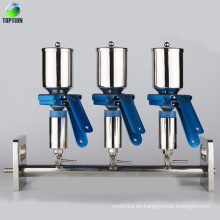 Sistema de filtración de vacío múltiple, configuración de filtración al vacío