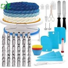 Kits d'outils de décoration de gâteaux multifonctions en silicone