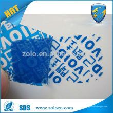 Высокое качество раскрывать слово защитная клейкая этикетка наклейка с надписью безопасности