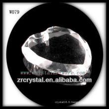 Perles en cristal de forme de coeur pour la décoration W079