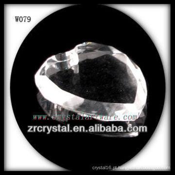 Grânulos de cristal da forma do coração para a decoração W079