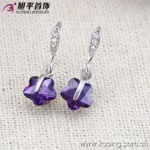 27917 Xuping Fashion CZ Rhodium Joyería creativa Gota para el oído para niñas