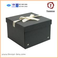 Schwarze 2mm Dicke Papierkarte Storge Box mit Nieten
