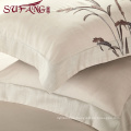 2017 fashion design Luxury hotel Factory Directly High 100%lint bells 60s/40s/80s Super soft cotton flax bedding sets