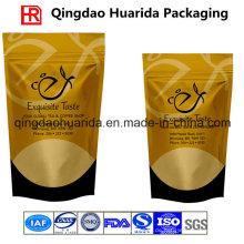 Matte fertige Plastikkaffee-Verpackungs-Tasche mit Ventil