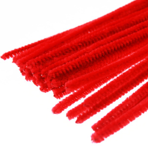 DIY Pipe Cleaners chenille stem chritmas decoration red assorted