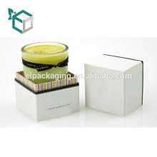 Logotipo da caixa rígida de alta qualidade estamparia experiência personalização pacote de vela de design por atacado