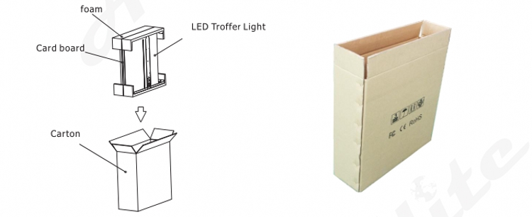 aluminum led troffer light