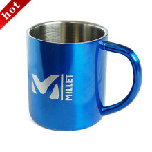 Stainless Steel Double Wall Camping Travel Carabiner Handle Mug