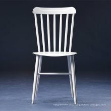European Windsor White Lacquer Metal Chair for Commercial Usage (SP-MC072)