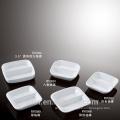 wholesale cheap white porcelain square divided dish