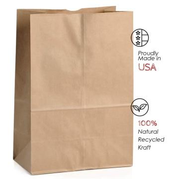 Sacos de papel kraft coloridos baratos de alta qualidade, impressão personalizada com alças, saco de papel kraft