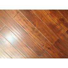 Pre-Finished Günstige Massivholzbodenbelag Acacia Hardword Floors natürliche Farbe bräunlich rot Hand geschabten Bodenbelag
