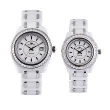 Oem Waterproof Watch, White Stones Automatic Japan Movt Diamond Ceramic Watches