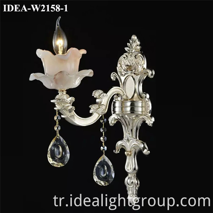 glass candle wall sconce