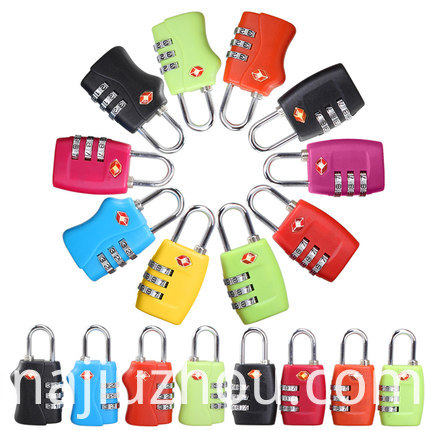 TSA 3 Dial Combination Luggage Pad Lock