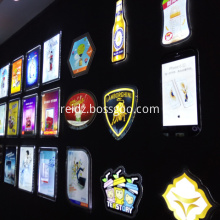 Acrylic Led Display Sign Crystal Box light sign